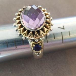 Barbara Bixby Amethyst 925/18k Ring sz8